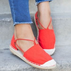 Shoes - 🆕//The Lani// Red espadrille flat